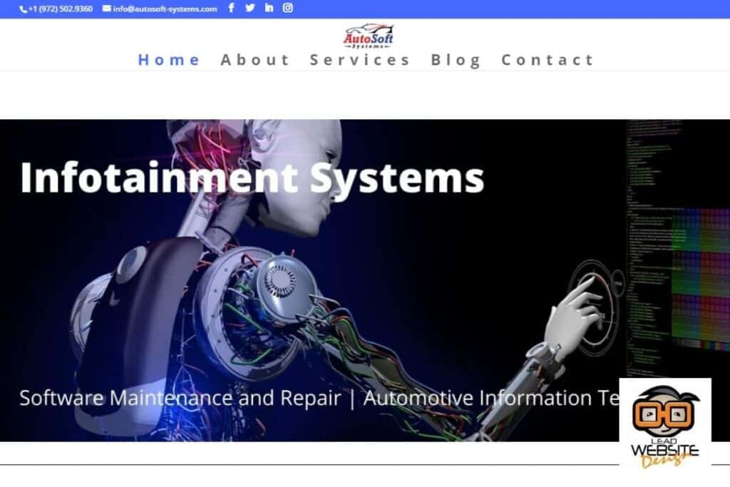 auto soft systems website desgin project