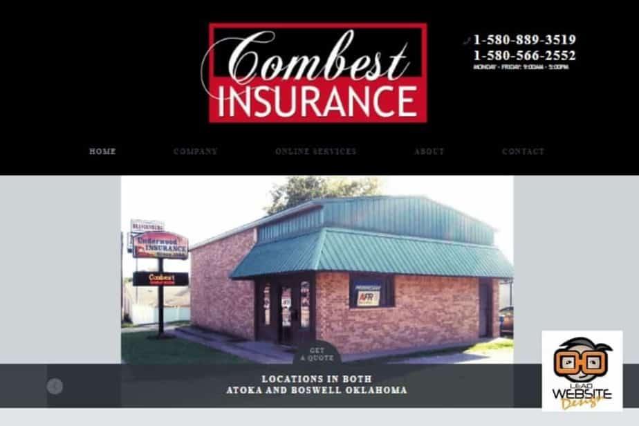 combest insurance website design project