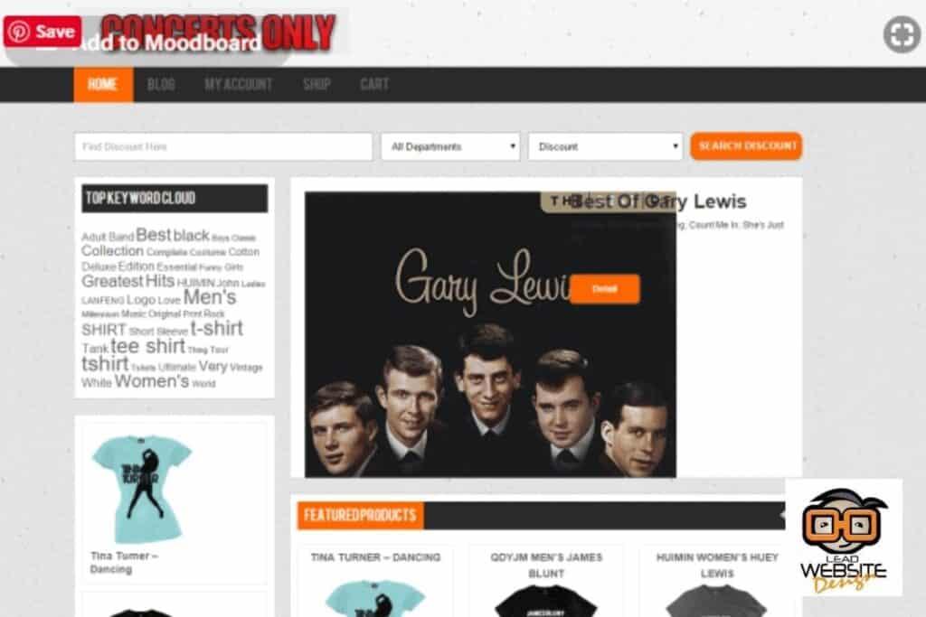 concerts only website design project