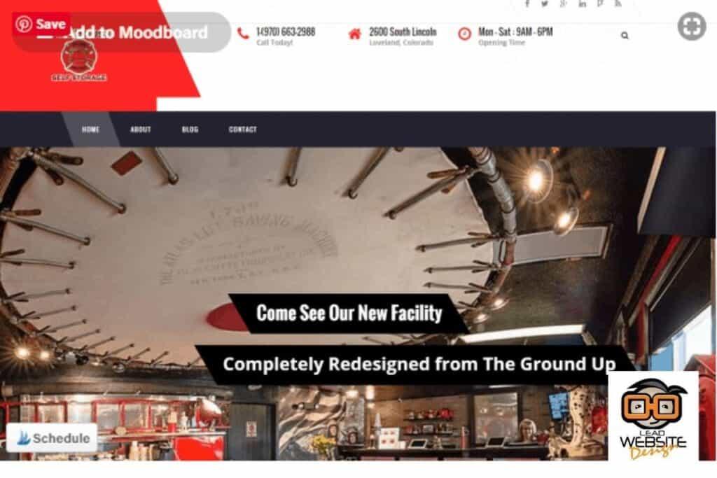 firehouse self storage website design project