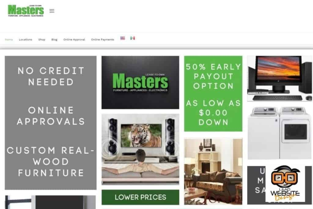 masters lease website design project