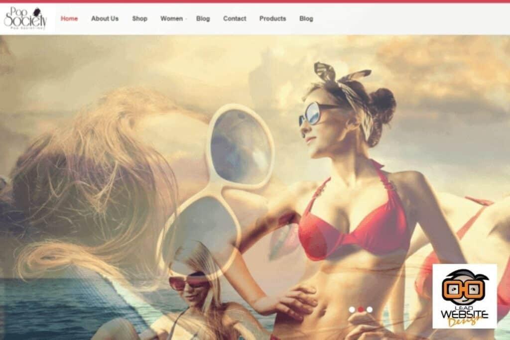 pop society website design project