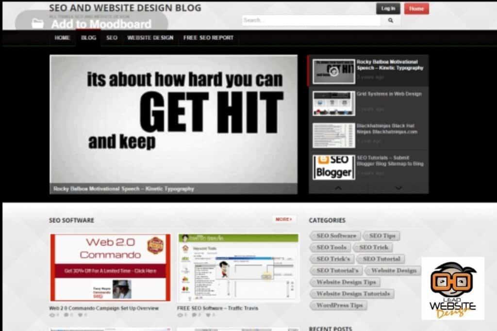 seo and website design blog website design project