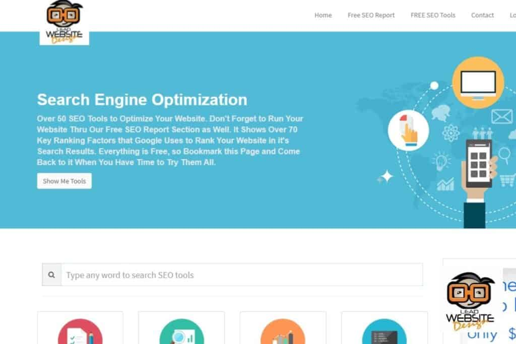seo tools lead website design website design project