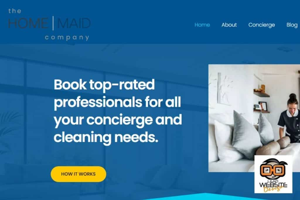 the home maid company website design projecdt