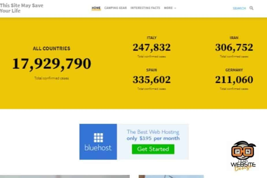 this site may save your life website design project