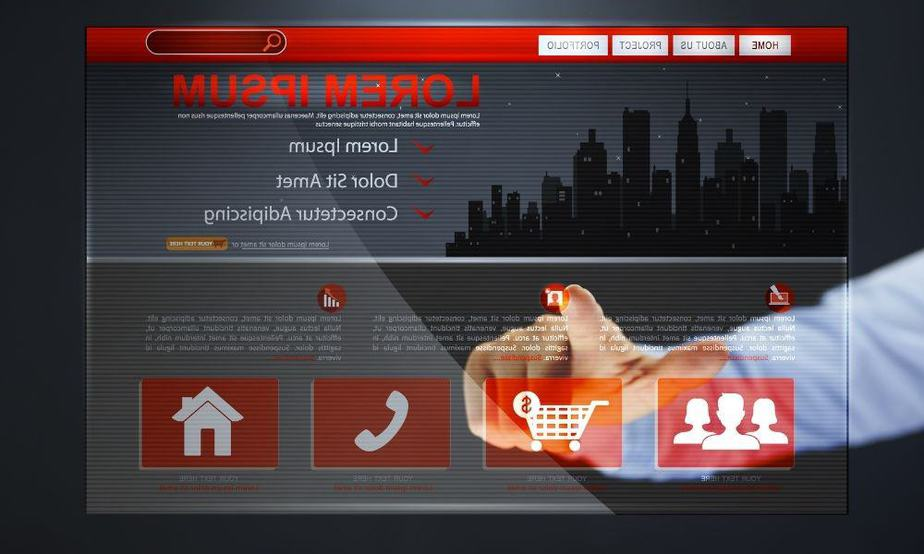 website interface preperation for design project